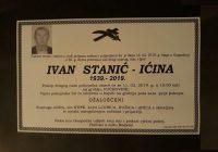 Posljednji ispraćaj Ivana Stanića – Ićine bit će 11. veljače na groblju Vučkovine