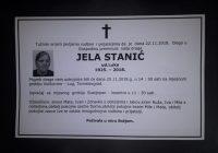 Posljednji ispraćaj Jele Stanić bit će u nedjelju na Vučkovinama